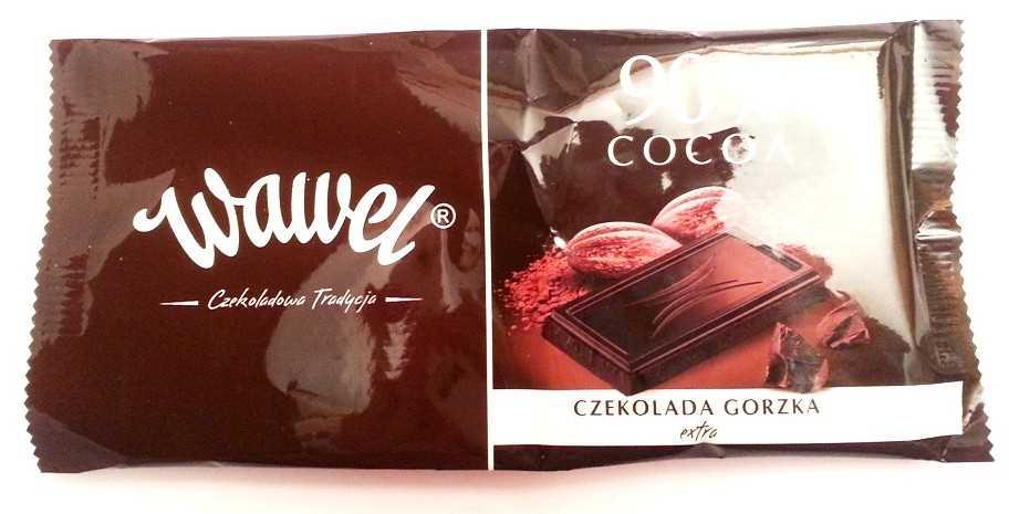 Wawel, 90% cocoa | Recenzja, wartości odżywcze, skład