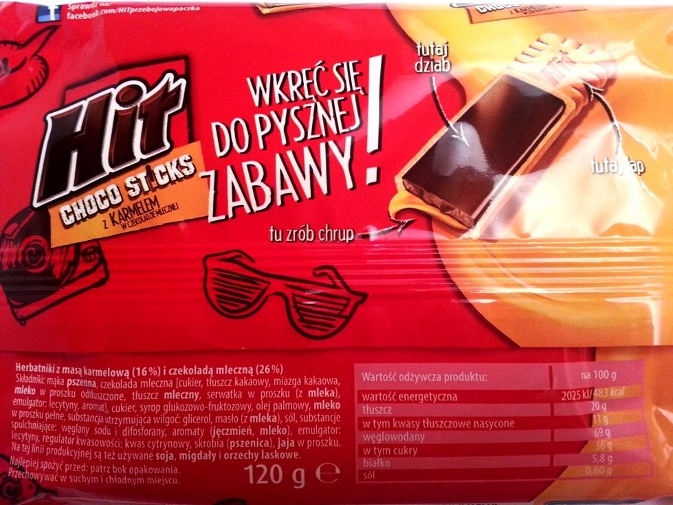 Bahlsen, Hit Choco Sticks z karmelem w czekoladzie (2)