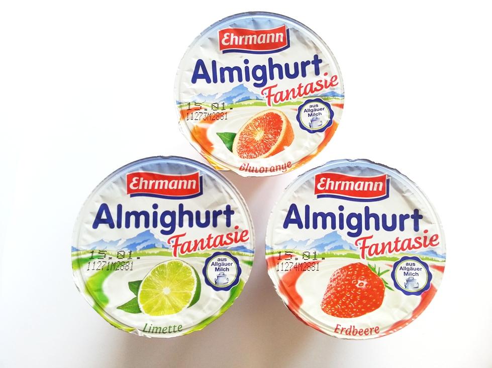Ehrmann Almighurt Fantasie Erdbeere Blutorange Limette