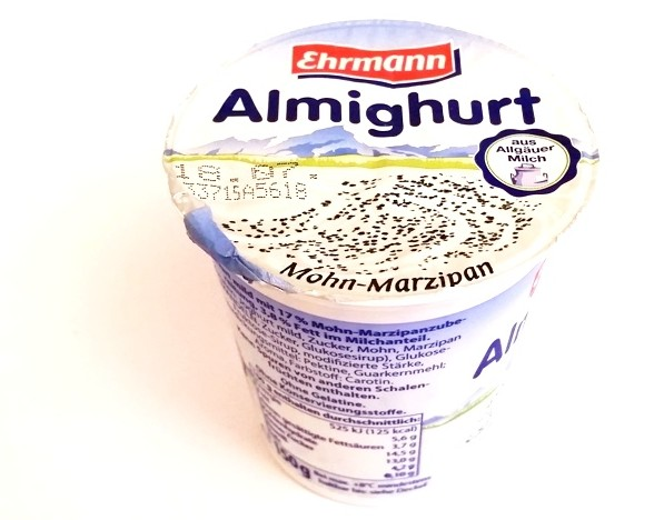 Ehrmann, Almighurt Mohn-Marzipan