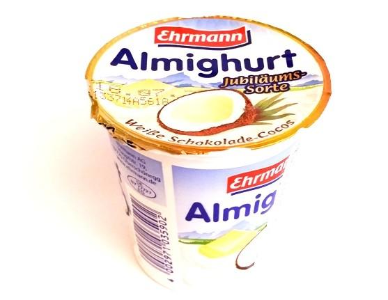 Ehrmann, Almighurt Weiße Schokolade-Cocos