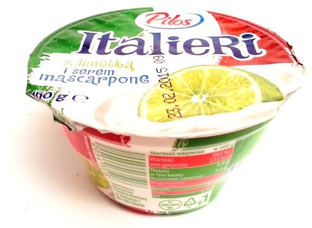 Lidl Pilos, Italieri z limetką i serem mascarpone, zabajone