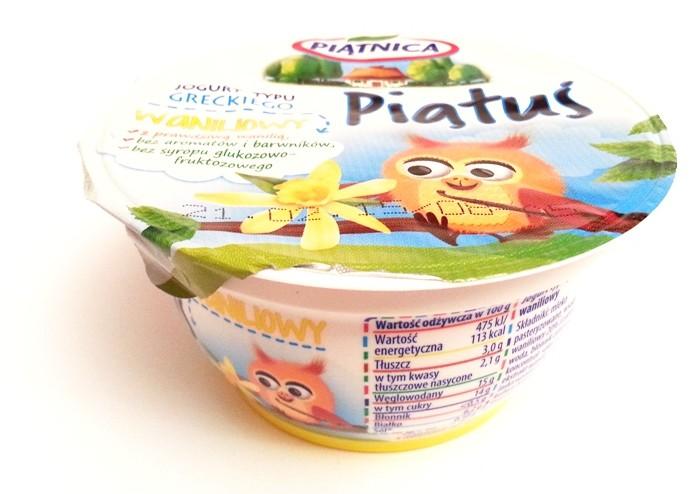 Piątnica, jogurt typu greckiego Piątuś 125 g waniliowy (1)