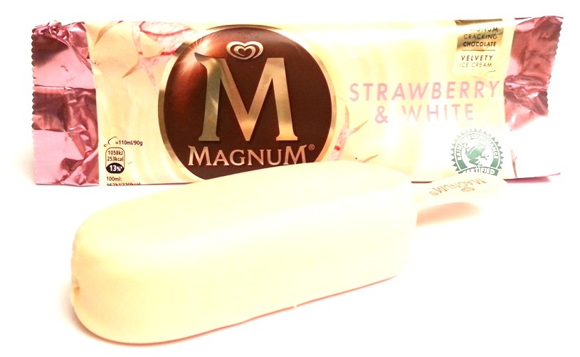 Algida, Magnum Strawberry and White truskawka biała czekolada (1)