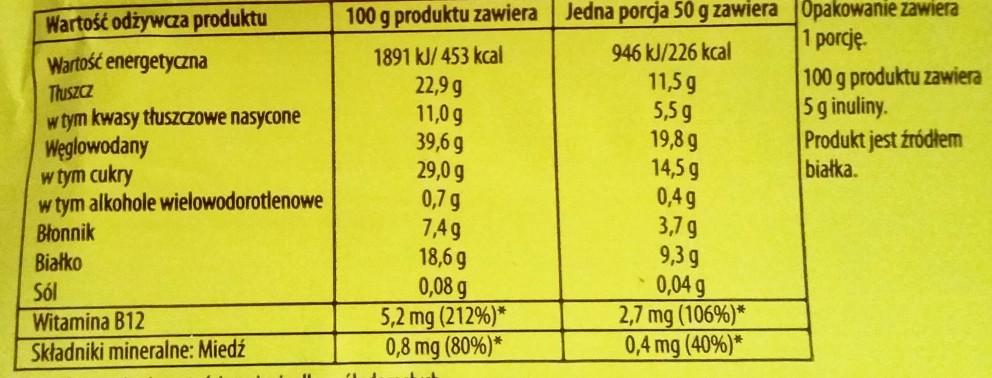 Go On protein bar orzechowy z inuliną Sante  (3)