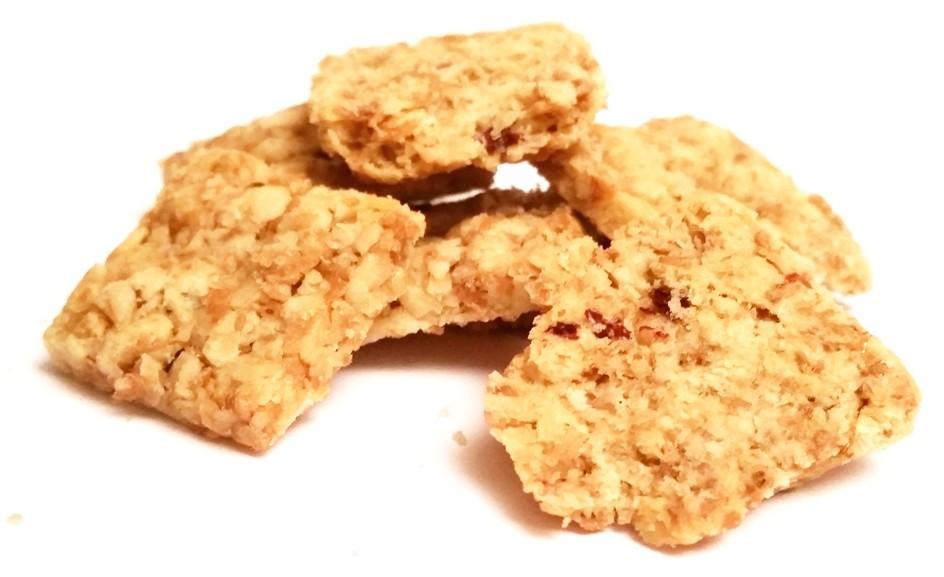 Kupiec, Kruche ciasteczka zbożowe o smaku malinowym z żurawiną (4)