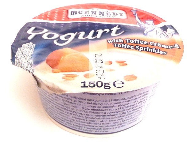Lidl Tydzień Amerykański McEnnedy, Yogurt with Toffee Creme & Toffee Sprinkles (1)