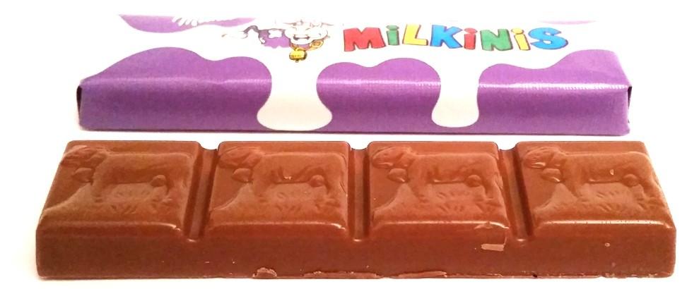 Milka, Milkinis, mleczna czekolada z nadzieniem mlecznym, batoniki typu Kinder Czekolada, copyright Olga Kublik