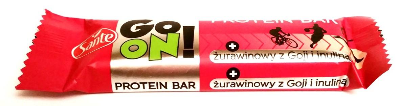 Sante, Go On protein bar żurawinowy z Goji i inuliną (1)
