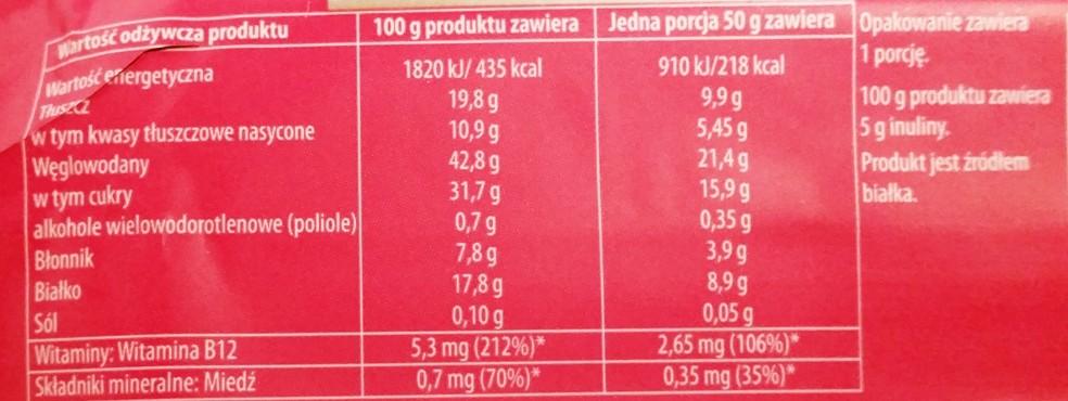Sante, Go On protein bar żurawinowy z Goji i inuliną (3)