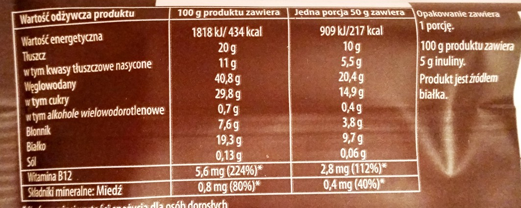 Sante, Go On protein bar kakaowy z inuliną (2)