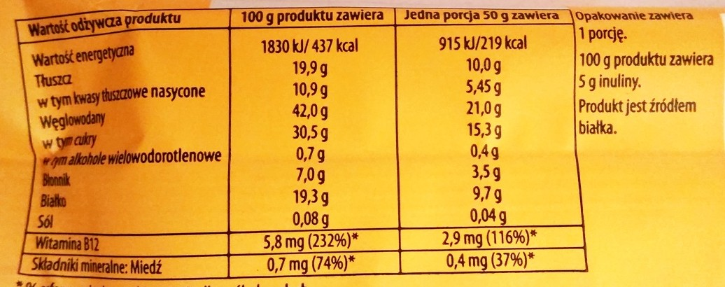 Sante, Go On protein bar waniliowy z inuliną (5)