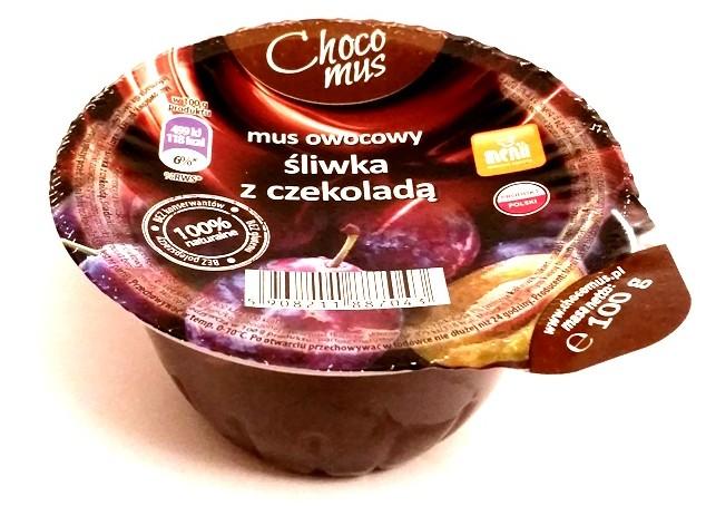 Menii, Choco mus wiśnia z czekoladą, śliwka z czekoladą, truskawka z czekoladą, banan z czekoladą (1)