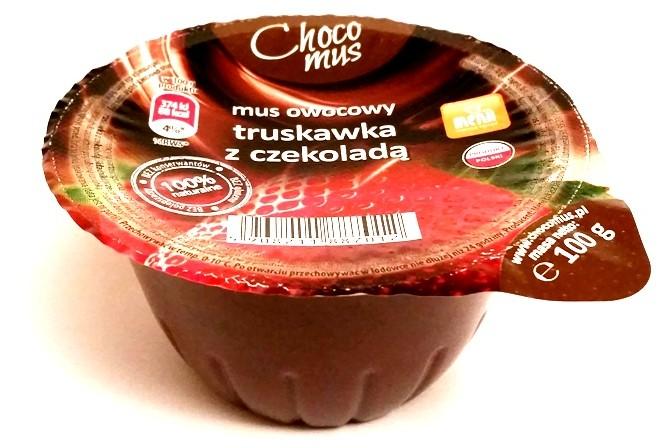 Menii, Choco mus wiśnia z czekoladą, śliwka z czekoladą, truskawka z czekoladą, banan z czekoladą (2)