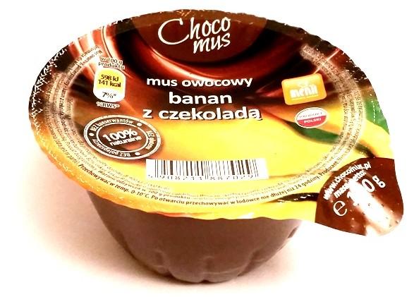 Menii, Choco mus wiśnia z czekoladą, śliwka z czekoladą, truskawka z czekoladą, banan z czekoladą (4)