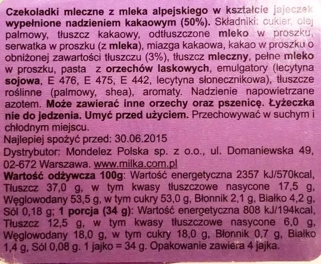 Milka, Loffel Ei Kakaocreme (5)