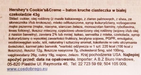 Hersheys, Cookies n Creme (3)