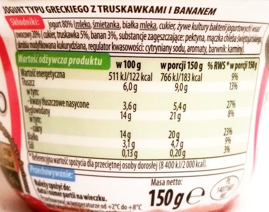 Lactalis, Tolonis jogurt typu greckiego z truskawkami i bananem, z ananasem, z mango, z wiśniami (1)