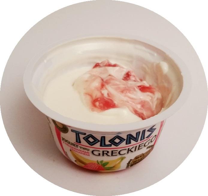 Lactalis, Tolonis jogurt typu greckiego z truskawkami i bananem, z ananasem, z mango, z wiśniami (2)