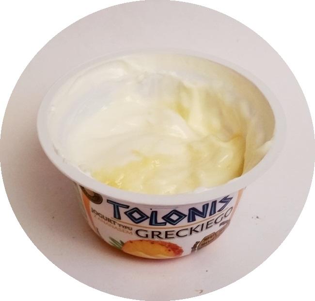 Lactalis, Tolonis jogurt typu greckiego z truskawkami i bananem, z ananasem, z mango, z wiśniami (4)