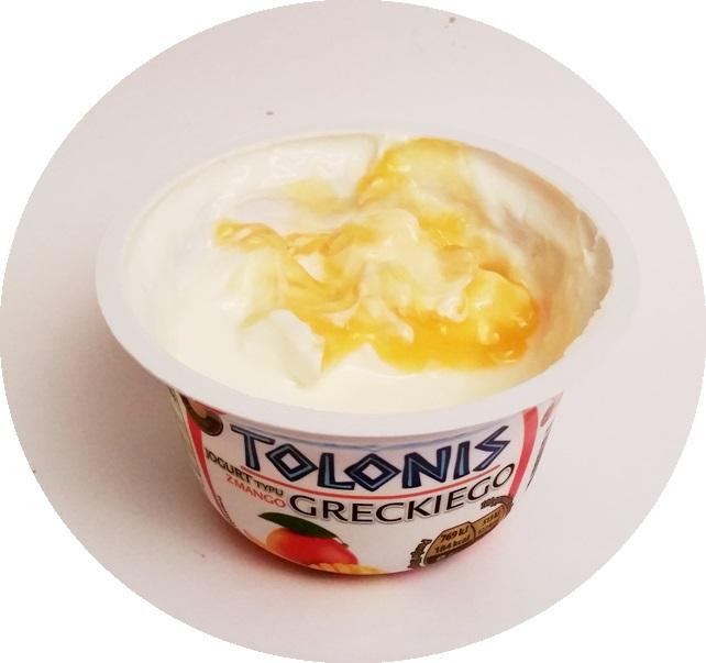 Lactalis, Tolonis jogurt typu greckiego z truskawkami i bananem, z ananasem, z mango, z wiśniami (6)