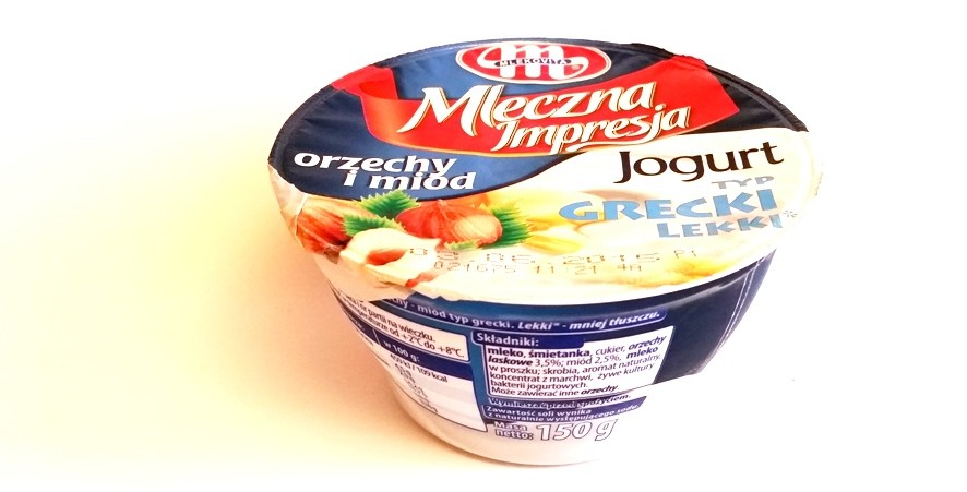 Mlekovita, Mleczna Impresja jogurt typ grecki lekki orzechy i miód (1)