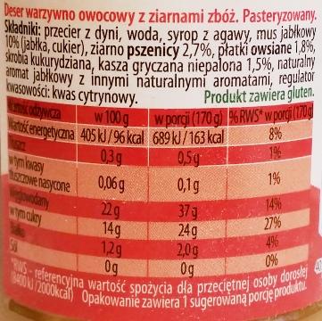 Primavika, Deser soczyste jabłko z ziarnami zbóż (1)