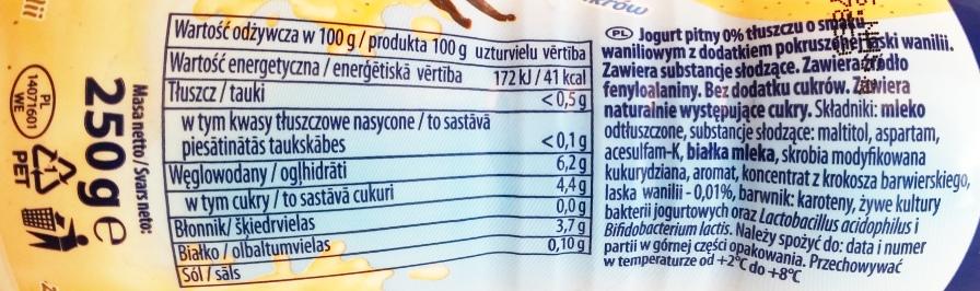 Jovi, Jogurt pitny 0 light Aromatyczna Wanilia (2)
