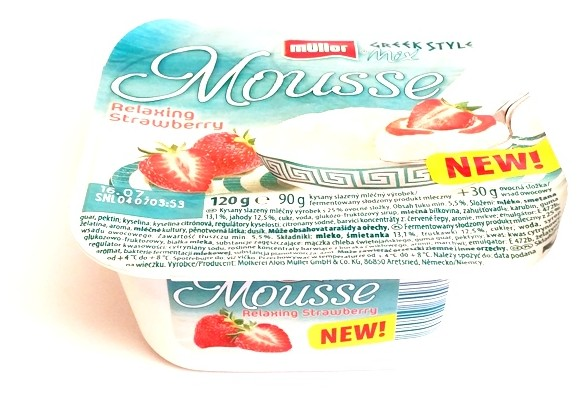 Muller, Greek Style Mix Mousse Relaxing Strawberry (1)