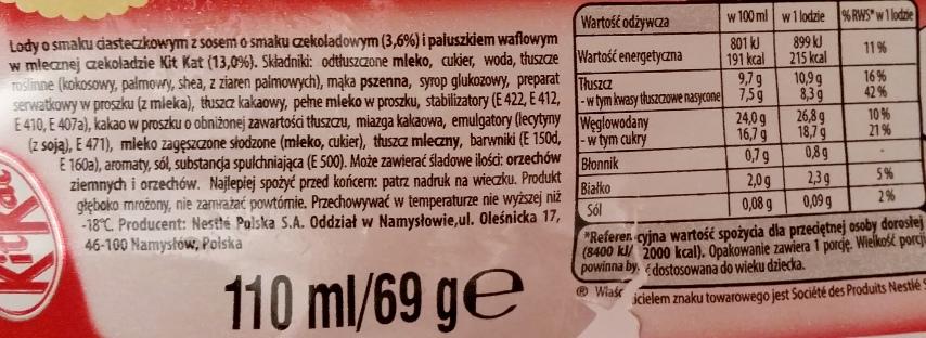 Nestle, rożek Kit Kat Cake flavour (2)