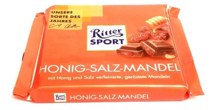 Ritter Sport, Honig-Salz-Mandel (1)