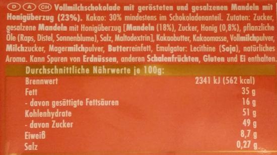 Ritter Sport, Honig-Salz-Mandel (2)