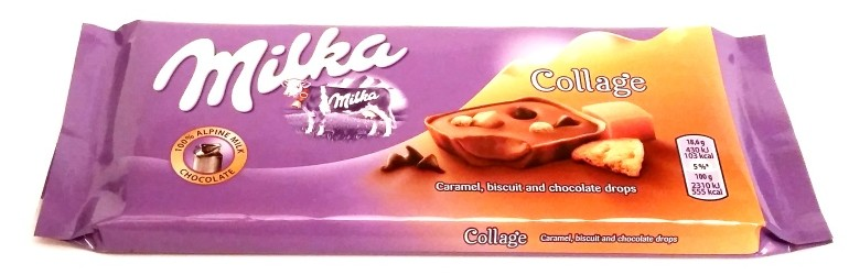 Milka, Collage Caramel, biscuit and chocolate drops (1)