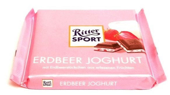 Ritter Sport, Erdbeer Joghurt (1)