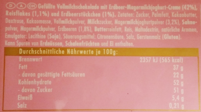 Ritter Sport, Erdbeer Joghurt (2)