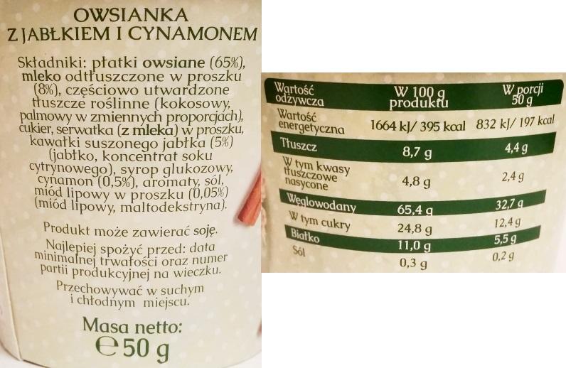 Mokate, Owsianka z jabłkiem i cynamonem (3)