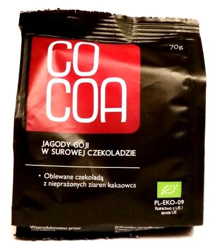 Surovital cocoa jagody goji w surowej czekoladzie for Jagody goji w tabletkach