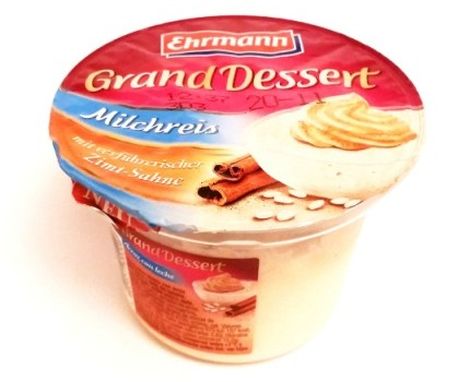 Ehrmann, Grand Dessert Milchreis Zimt-Sahne (1)