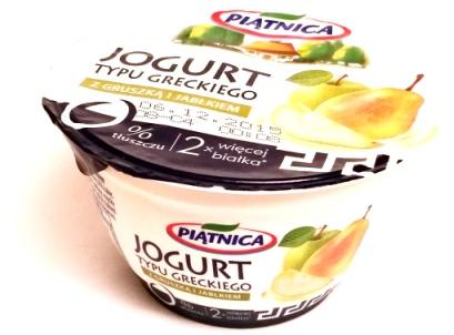 Piątnia, Jogurt typu greckiego 0 tłuszczu z gruszką i jabłkiem (1)