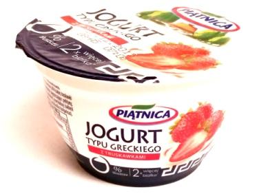 Piątnia, Jogurt typu greckiego 0 tłuszczu z truskawkami (1)