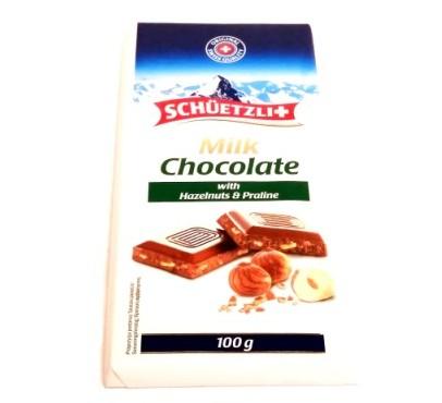 Schuetzli, Milk Chocolate with Hazelnuts and Praline (1)