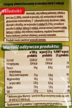 Fifor, Top Chips o smaku sera i cebuli (2)