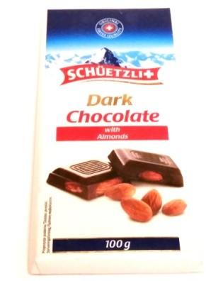 Schuetzli, Dark Chocolate with Almonds (1)