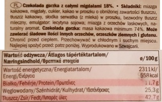 Schuetzli, Dark Chocolate with Almonds (4)