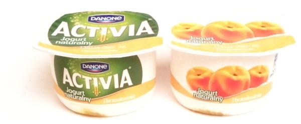 Danone, Activia Jogurt naturalny i brzoskwinie (1)