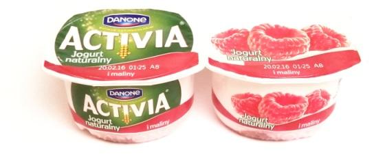 Danone, Activia Jogurt naturalny i maliny (1)