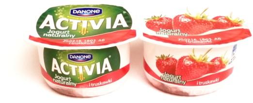 Danone, Activia Jogurt naturalny i truskawki (1)