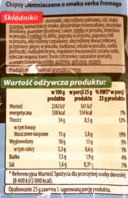 Fifor, Top Chips o smaku serka fromage (2)