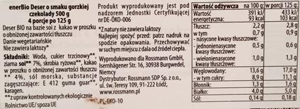 EnerBIO, Soja Dessert Dunkle Schoko (2)