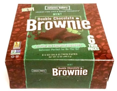 Natures Bakery, Double Chocolate Brownie Mint (1)